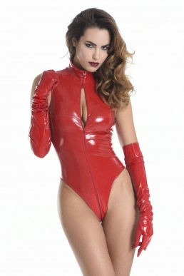 Manon body vinyle rouge