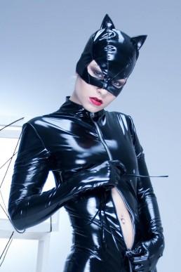 Masque Petit Chat Vinyle Noir