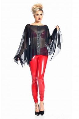 Vera Leggings Vinyle Rouge