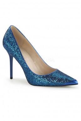 Escarpins à paillettes bleues