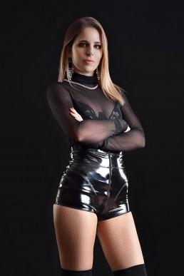 Jenna Short Vinyle noir