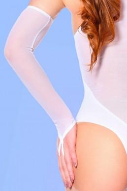 Mitaines Résille blanche